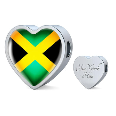 Jamaica Flag Heart Charm - lottierocks