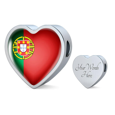 Portugal Flag Heart Charm - lottierocks