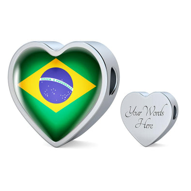 lottierocks:Brazil Flag Heart Charm