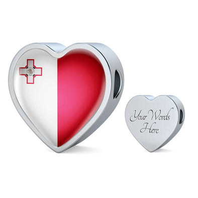 Malta Flag Heart Charm - lottierocks