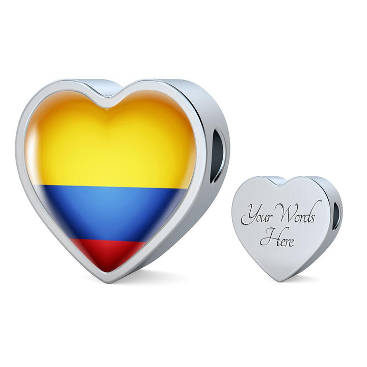 Ecuador Flag Heart Charm - lottierocks