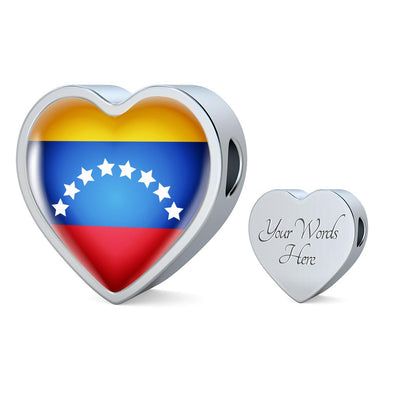 Venezuela Flag Heart Charm - lottierocks