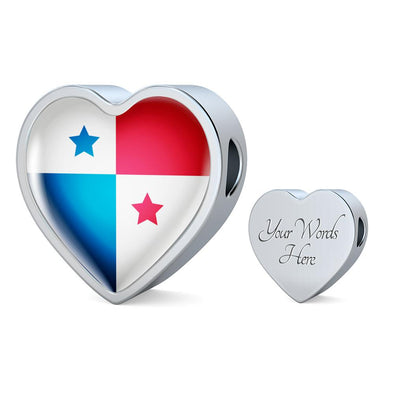 Panama Flag Heart Charm - lottierocks