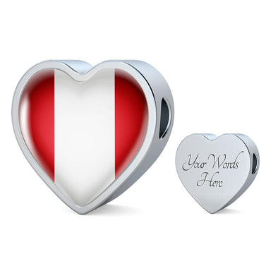 Peru Flag Heart Charm - lottierocks