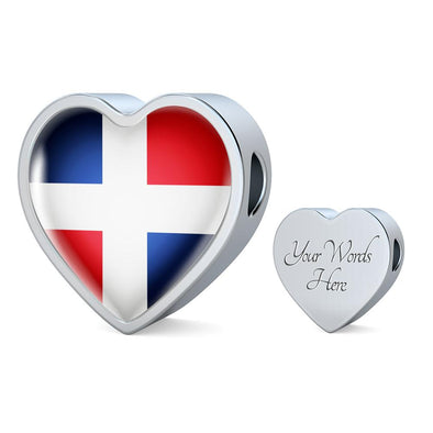lottierocks:Dominican Republic Heart Charm