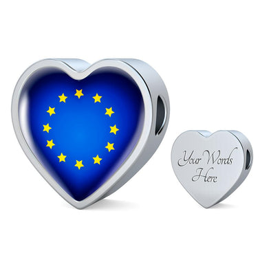 EU Flag Heart Charm - lottierocks
