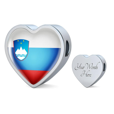 Slovenia Flag Heart Charm - lottierocks
