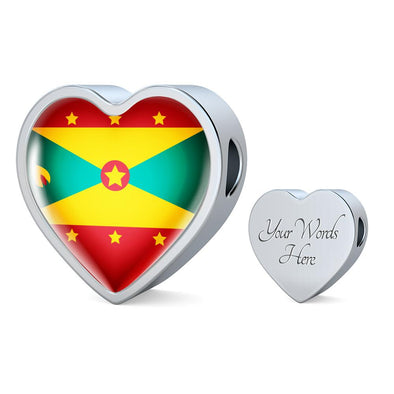 Grenada Flag Heart Charm - lottierocks