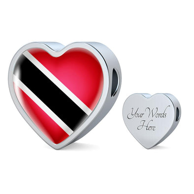 Trinidad Tobago Flag Heart Charm - lottierocks