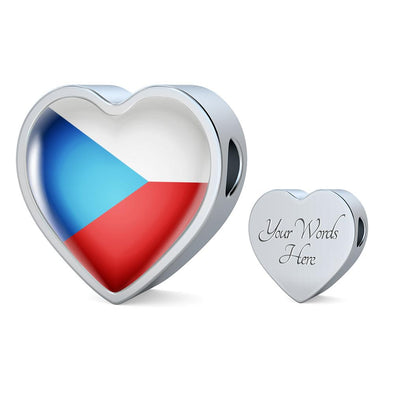 lottierocks:Czech Republic Flag Heart Charm