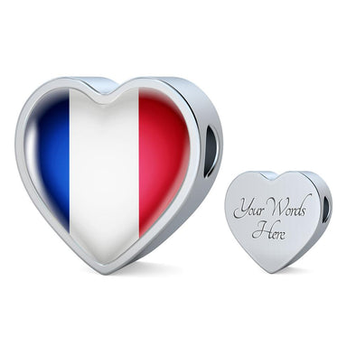 France Flag Heart Charm - lottierocks