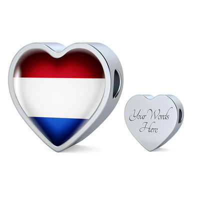 Netherlands Flag Heart Charm - lottierocks