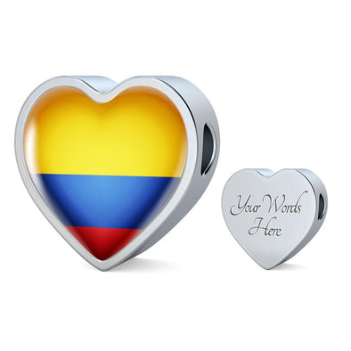 lottierocks:Colombia Flag Heart Charm