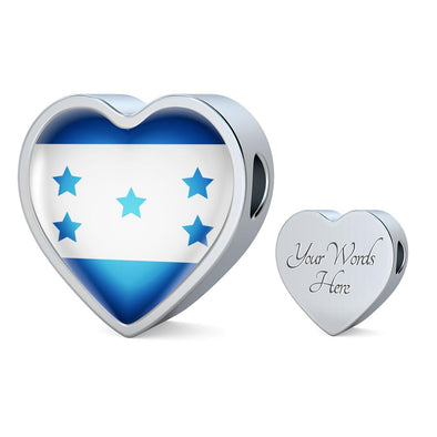 Honduras Flag Heart Charm - lottierocks