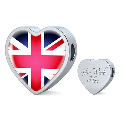 UK Flag Heart Charm - lottierocks