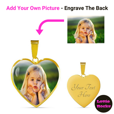 Personalized Photo Heart Pendant Necklace Jewelry - lottierocks