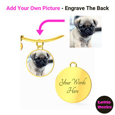 Personalized Photo Circle Pendant Bangle Jewelry - lottierocks