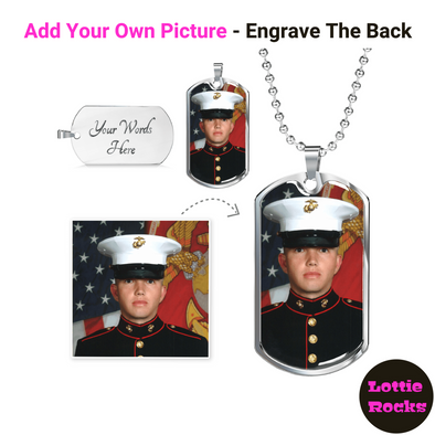 Personalized Photo Dog Tag Necklace Jewelry