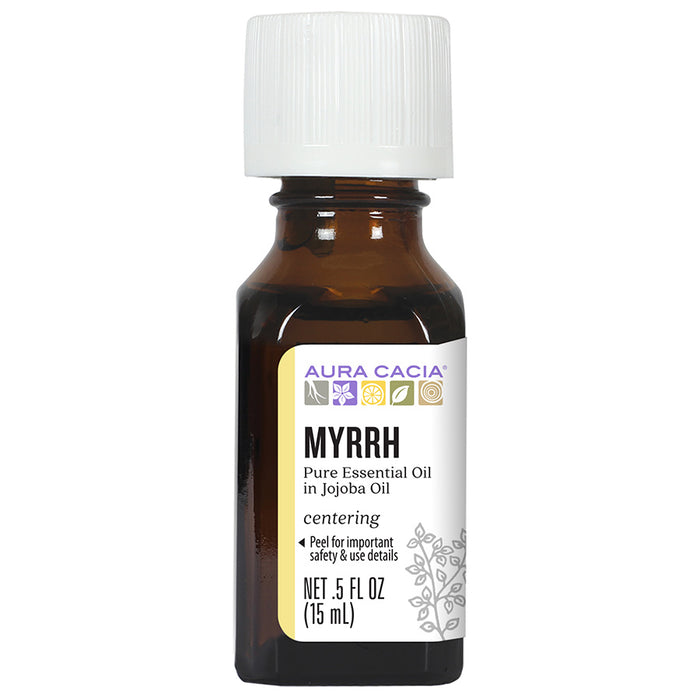Aura Cacia Myrrh (in jojoba oil) 0.5 fl. oz. - 191234