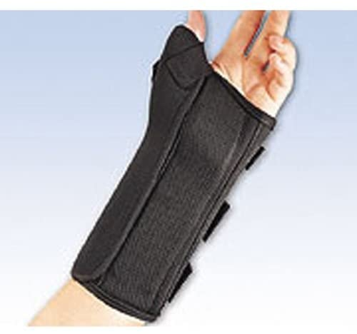 Composite Wrist Splint w/Abducted Thumb Small Left BLK - 22-461SMBLK