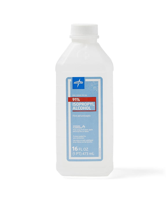 ALCOHOL, RUBBING, 91 ISOPROPYL, 16-OZ - MDS098012H