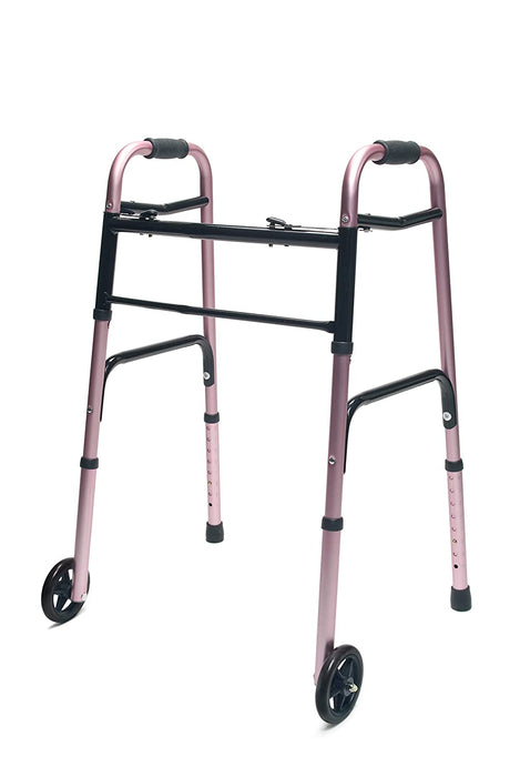 Lumex ColorSelect Adult Walker with Wheels, Adult, Pink - 716270PK-2