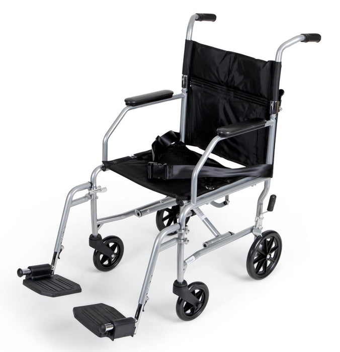 Basic Steel Transport Chair, 19in