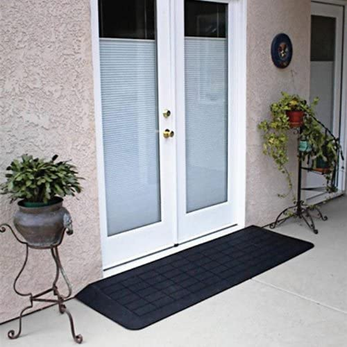 "Portable Ramp, 1 .25"" x 12 .25"" x 42"" Rubber Threshold Ramp"