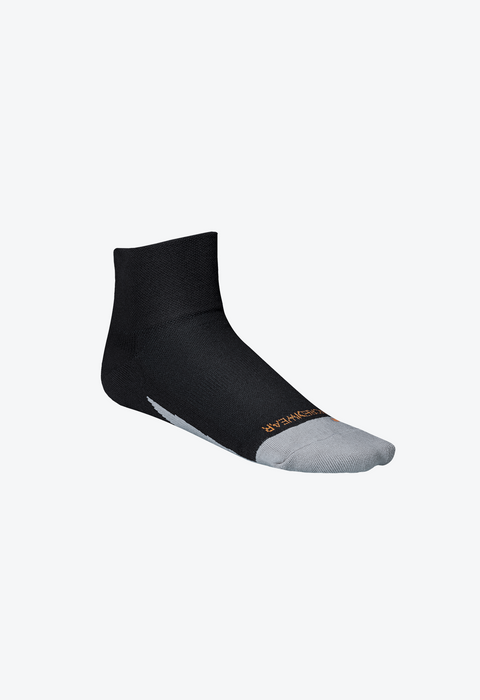 Sport Socks, Quarter, Black-Orange, S - RS201