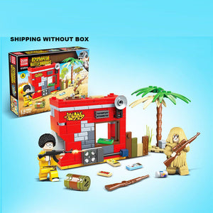 Custom PUBG GAME Military Building Blocks Set with 2 Minifigures