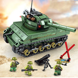 Iron Empire Custom WW2 US Scherman M4 Tank Building Blocks Set