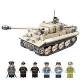 QG WW2 German Military Tank Tiger 131 Building Bricks Set 1018 PCS