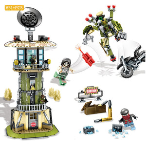 Black Gold Mission Custom Modern Military The Camp Watchtower Building Blocks Set