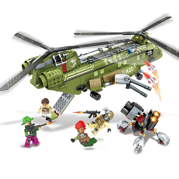 Black Gold Mission Military Concept Building Blocks Set