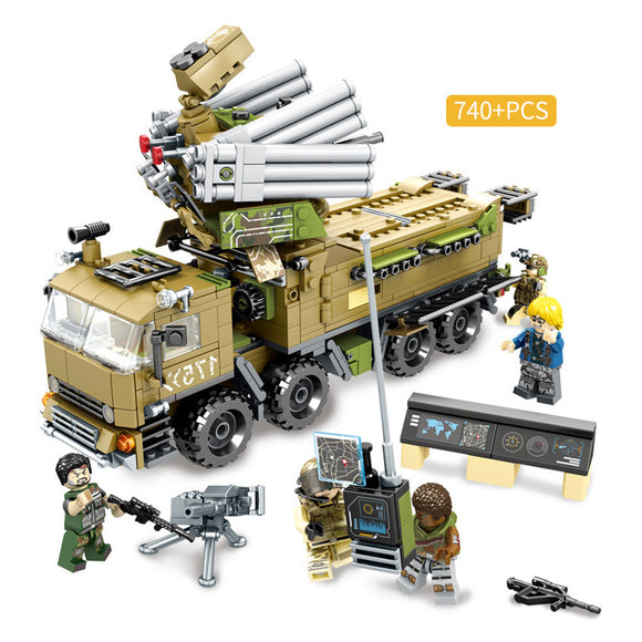 Black Gold Mission Custom Modern Military Armored Truck Building Blocks Set