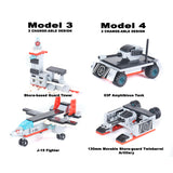 8 in 1 Aircraft Carrier Building Bricks Set