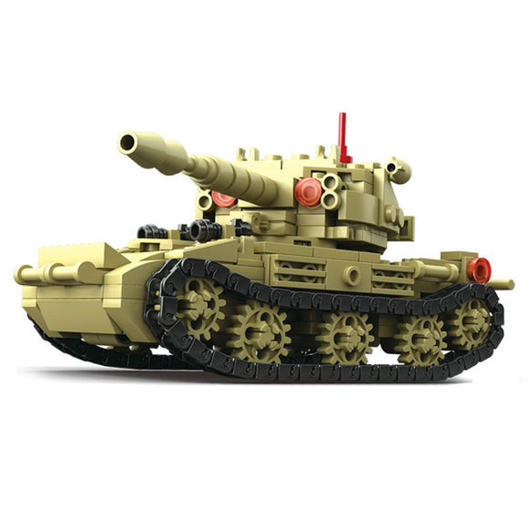 4 in 1 Military Tank Group Building Bricks Set (607 PCS)