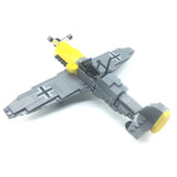 WW2 BF-109 Aircraft Building Bricks Kit, Military US Army Airplane Model Toys (286PCS)