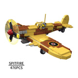 World War II Supermarine Spitfire MK Plane Building Bricks Set (476 PCS)