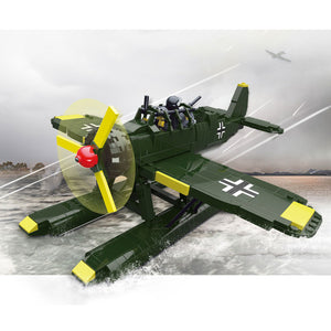 WW2 Military AR196 Reconnaissance Aircraft Air Force Planes Building Bricks Set (588PCS)
