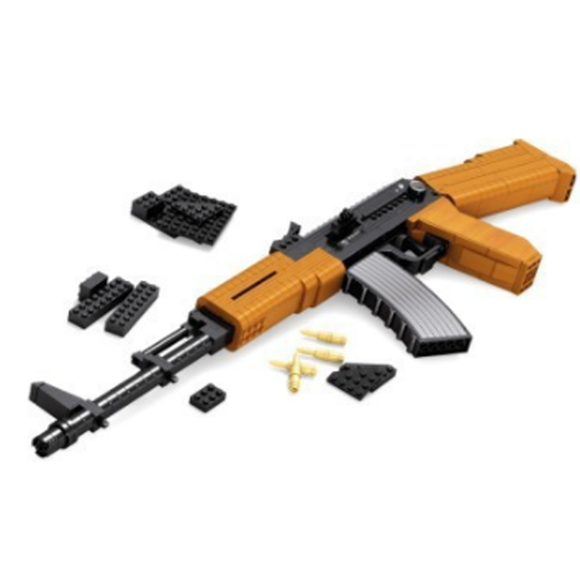 Ausini Guns Building Bricks Set, Famous Top Gun Collection The AK-47 Assaut Rifle 22706 (617PCS)