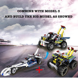 Cada Pull Back & Go Series Building Bricks Car Model 4 The Around Quad (164PCS)
