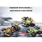 Cada Pull Back & Go Series Building Bricks Car Model 2 The Desert Racer (161PCS)