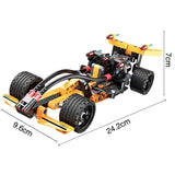 Cada Pull Back & Go Series Building Bricks Car Model 1 The Formula Champion Racing Car (159PCS)