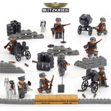 WW2 Military Building Blocks Figures Set German Army Soldiers