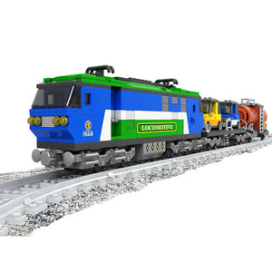 Express Locomotive Trains Building Bricks Set, Collectible City Railroad Train Track Set (573PCS)