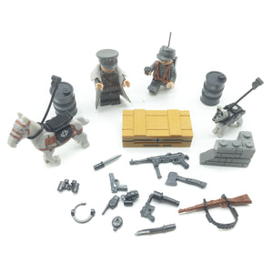 Custom Mini WW2 German Military Building Set w/ Weapons (2 Figures)