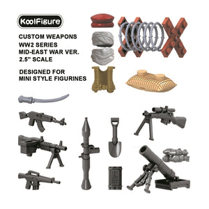 Koolfigure Middle East Army Accessories Set 1 with 2 Random Figures