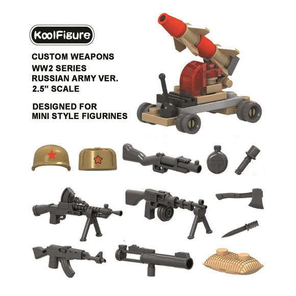 Koolfigure Russian Army Accessories Set 2 with 2 Random Figures