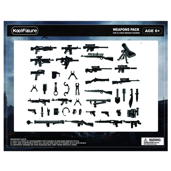 Koolfigure Basic Guns & Weapons Set 6